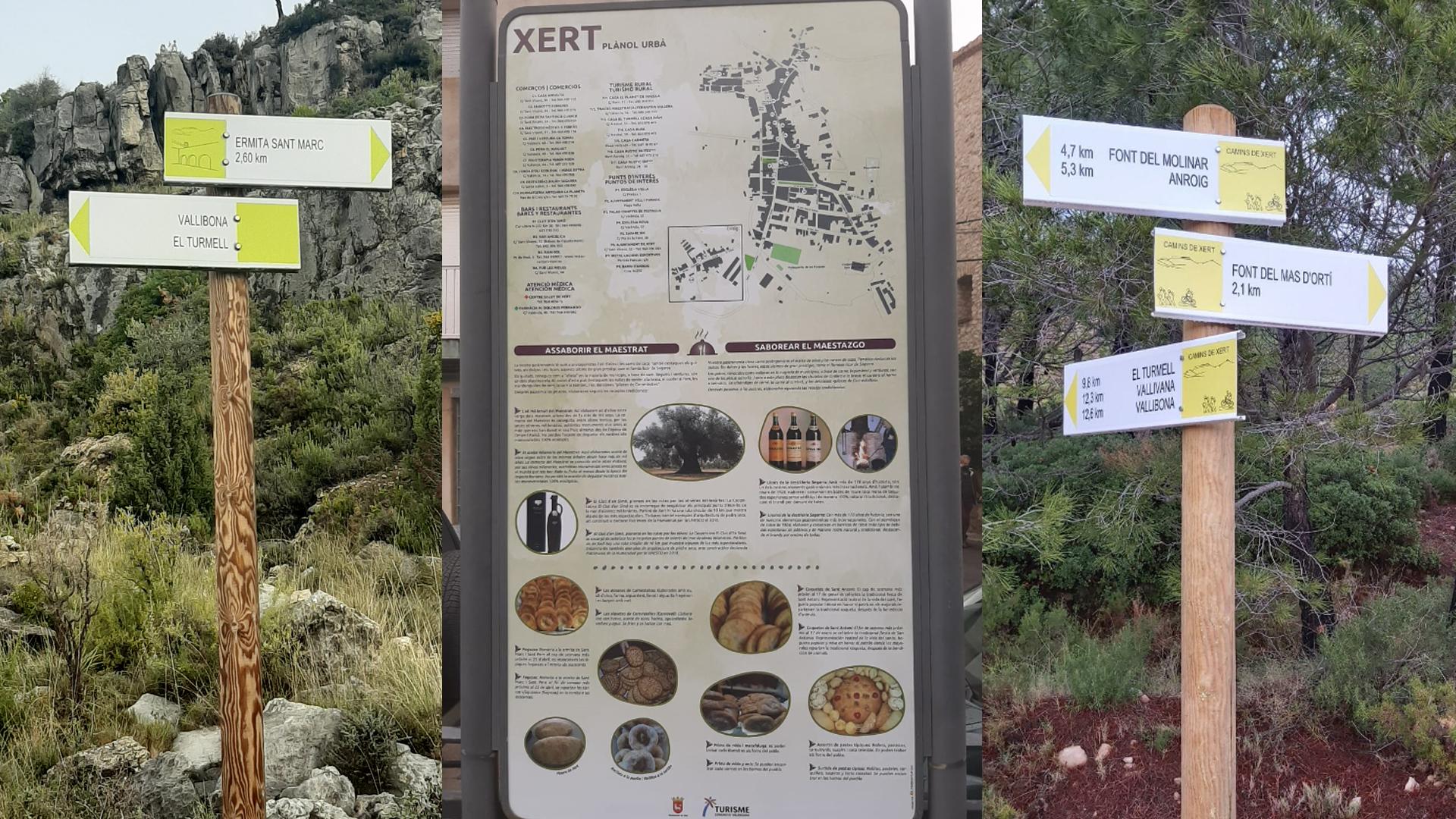 Xert senyalitza el terme municipal per tal de fer-lo molt més atractiu al visitant