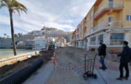 La reurbanització de l'avinguda de la Mar de Peníscola acabarà en la primera quinzena de maig
