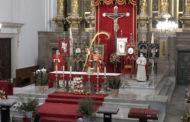 Benicarló; Celebració del Diumenge de Rams  a l'església de Sant Bartomeu de Benicarló 28-03-2021