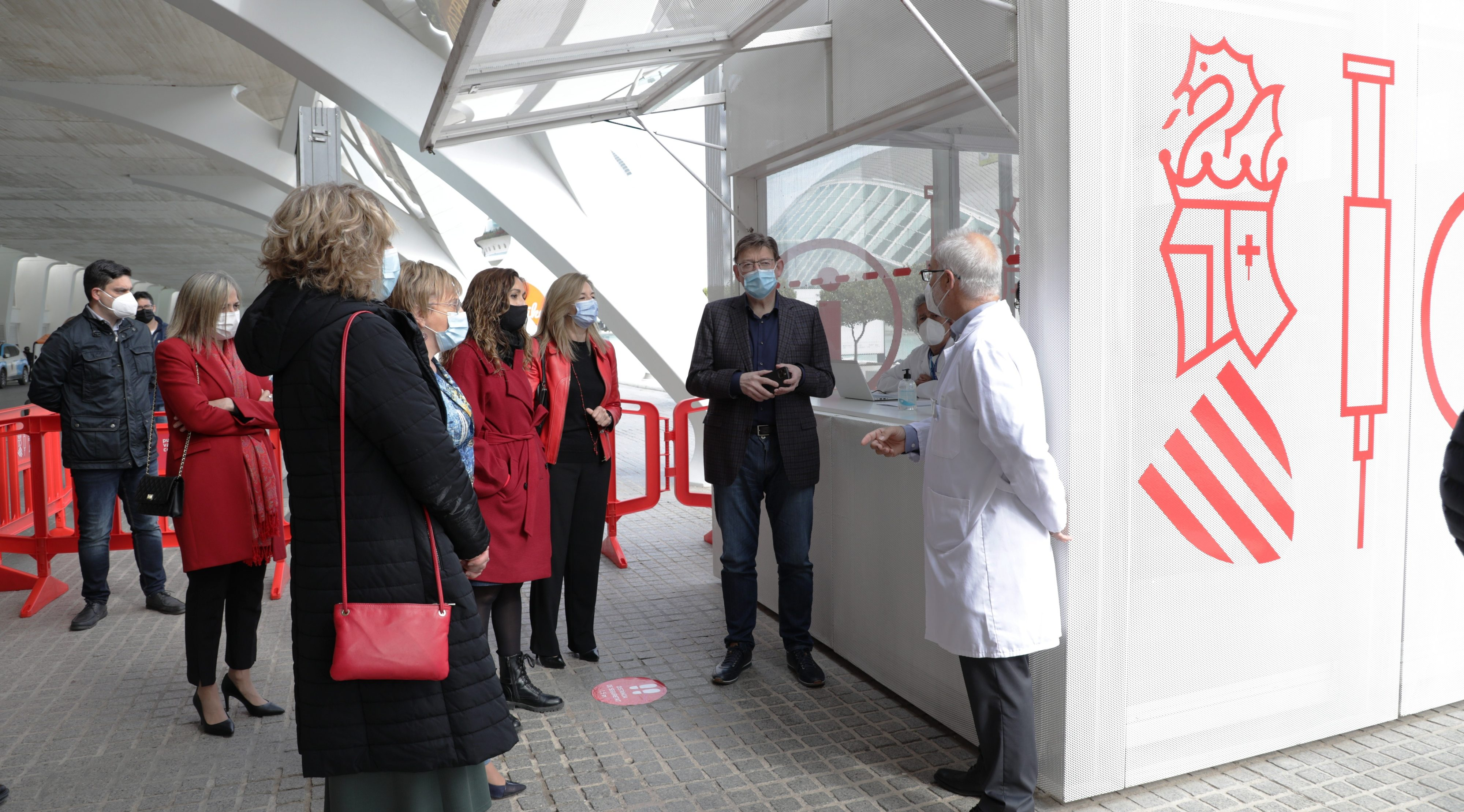 Puig anuncia la posada en funcionament dels quatre grans centres de vacunació massiva a partir del dilluns
