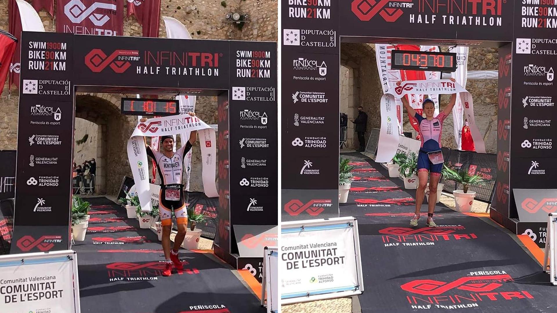 Montraveta i Cummings guanyadors de la IX 'Infinitri Half Triathlon' a Peníscola