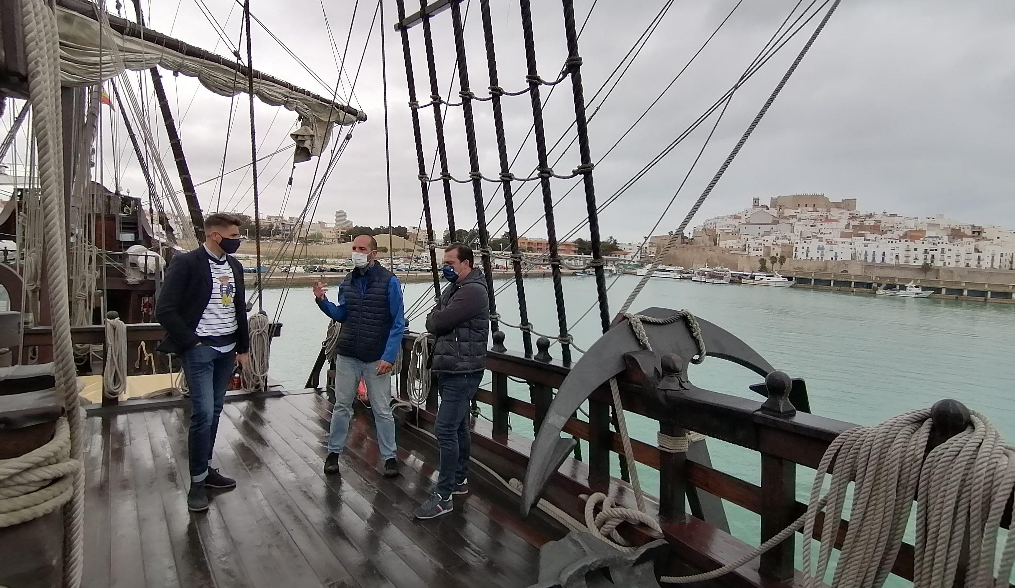 El Galió Andalusia ja pot visitar-se al port de Peníscola