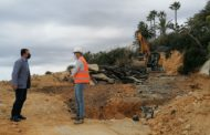 Peníscola encara l'últim mes d'obres en l'accés a la costa sud, després dels desperfectes del Glòria