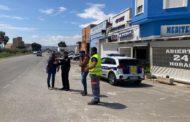 Visita a les obres d'instal·lació de la rotonda provisional en l'N-340a a Benicarló