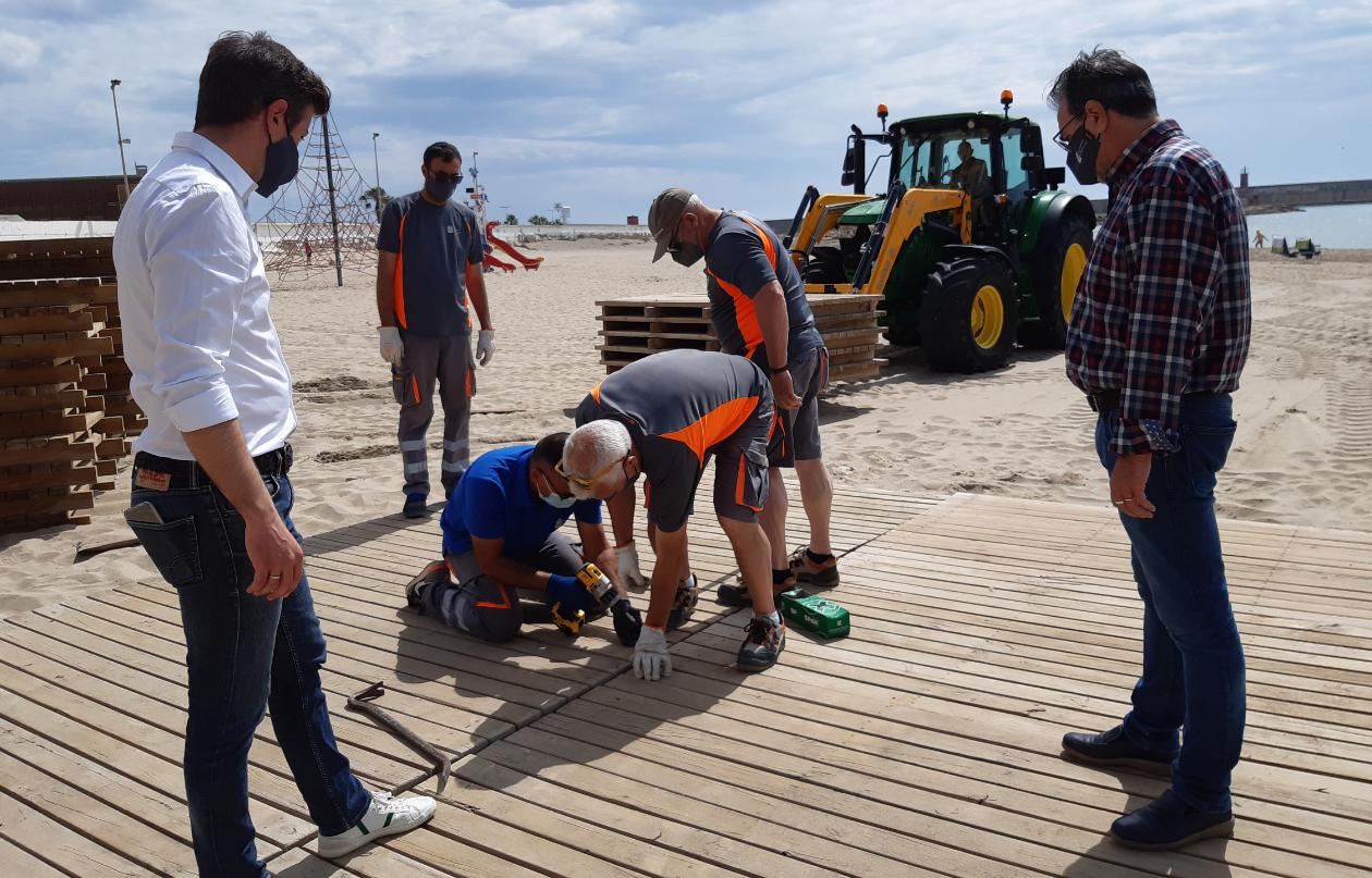 Arranca a Benicarló la temporada de platges amb l'inici del servei de socorrisme i salvament