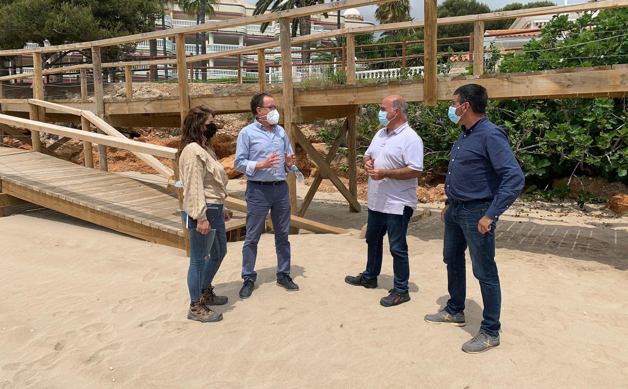 Alcalà-Alcossebre ultima amb Costes la reparació de danys del temporal Filomena en el front litoral