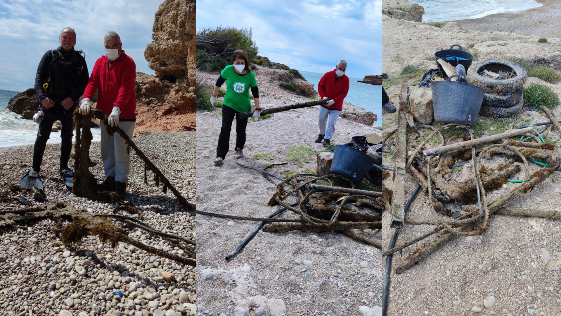 AguaSubVinaròs realitza una jornada de neteja del fons marí