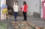 La Diputació estudiarà l'estat del mural de 8.000 peces abandonat durant 21 anys en el cotxeró provincial
