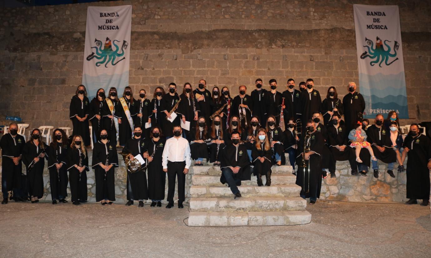 La Banda de Música de Peníscola torna a l'escenari amb un concert de marxes mores i cristianes