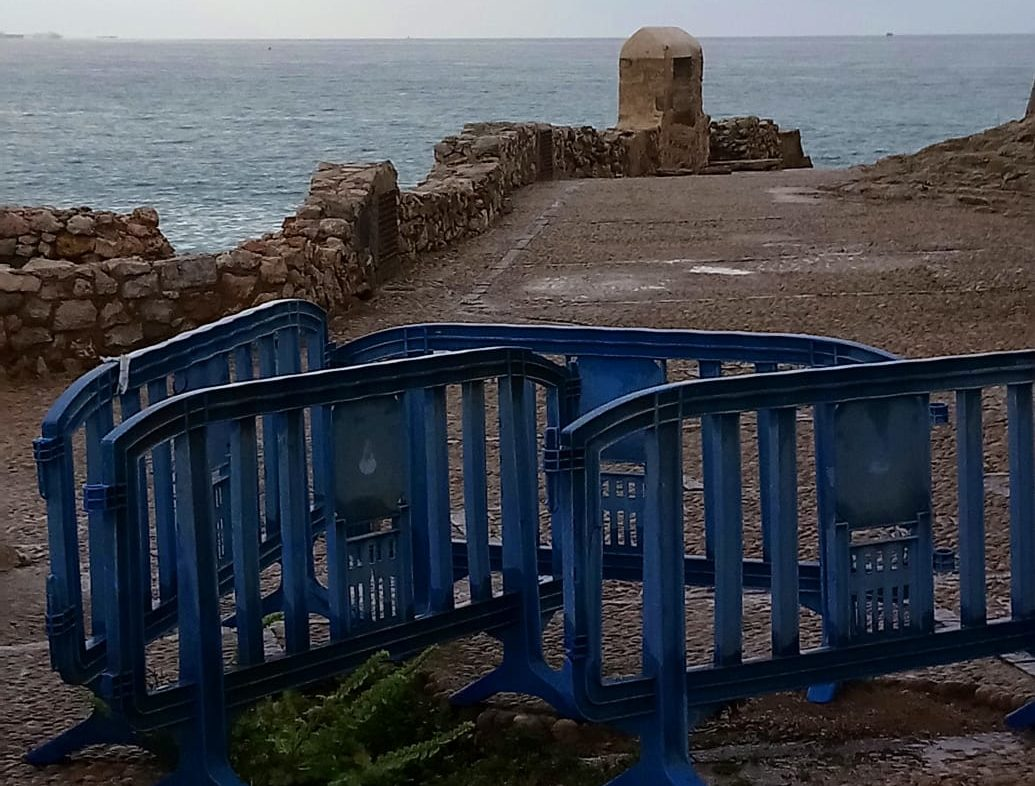 Compromís Peníscola trasllada a Cultura la necessitat de restaurar la zona de 'La Porteta'