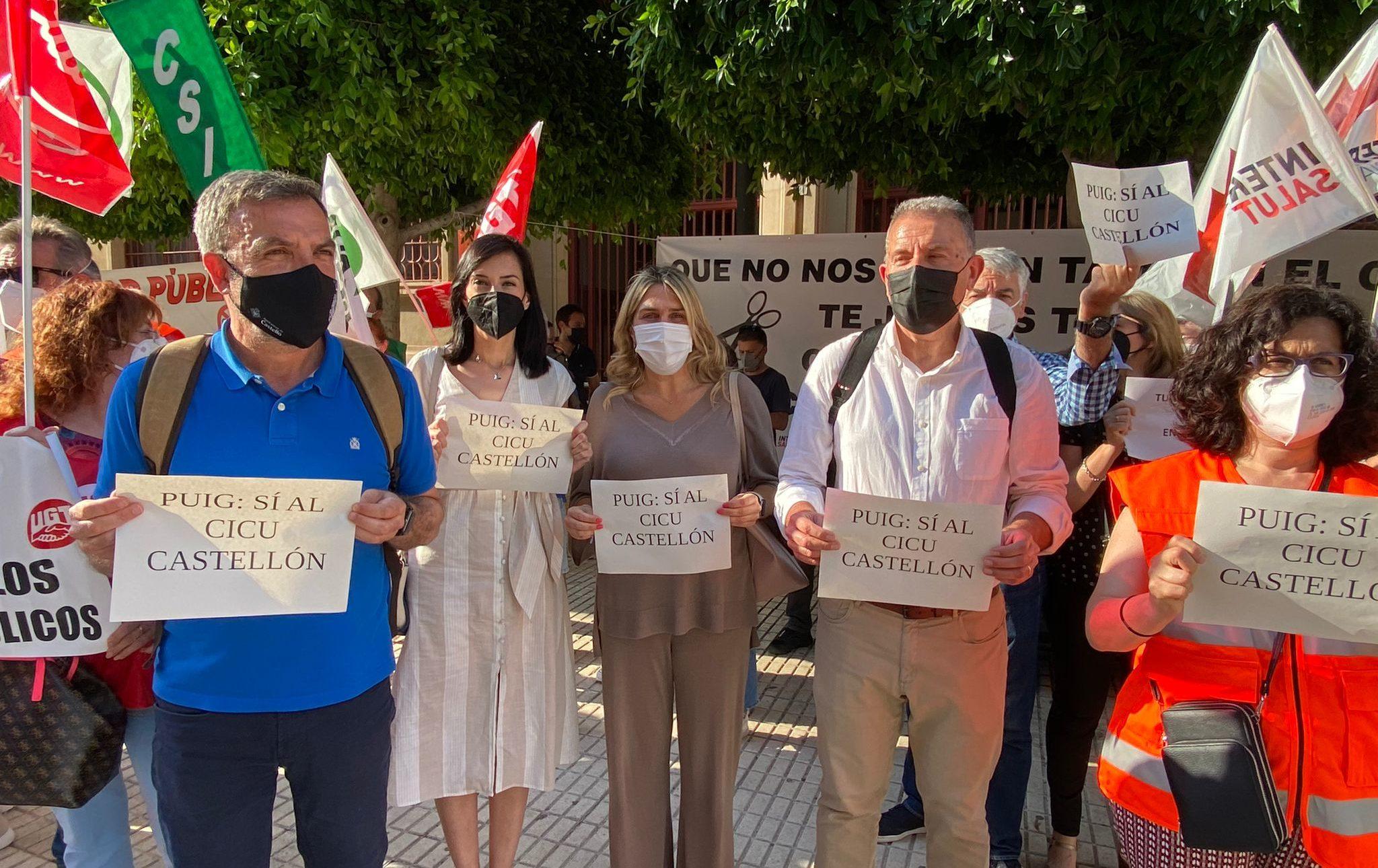 Els populars participen en la protesta en defensa delCICUa Castelló