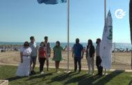 Hissada de la bandera blava a la platja nord de Peníscola 25-06-2021