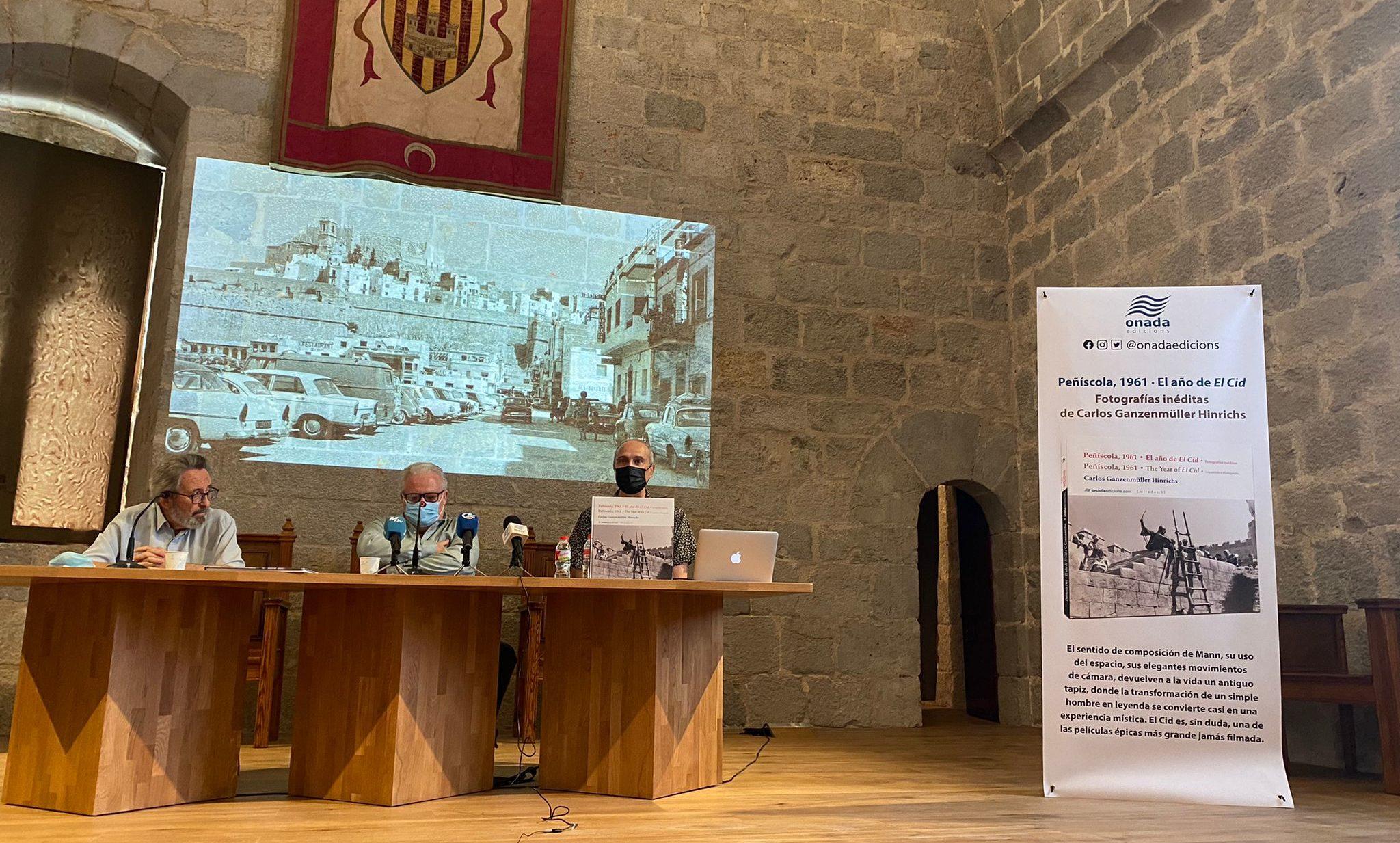 Un llibre de fotografies inèdites commemora el seixanté aniversari del rodatge del Cid a Peníscola