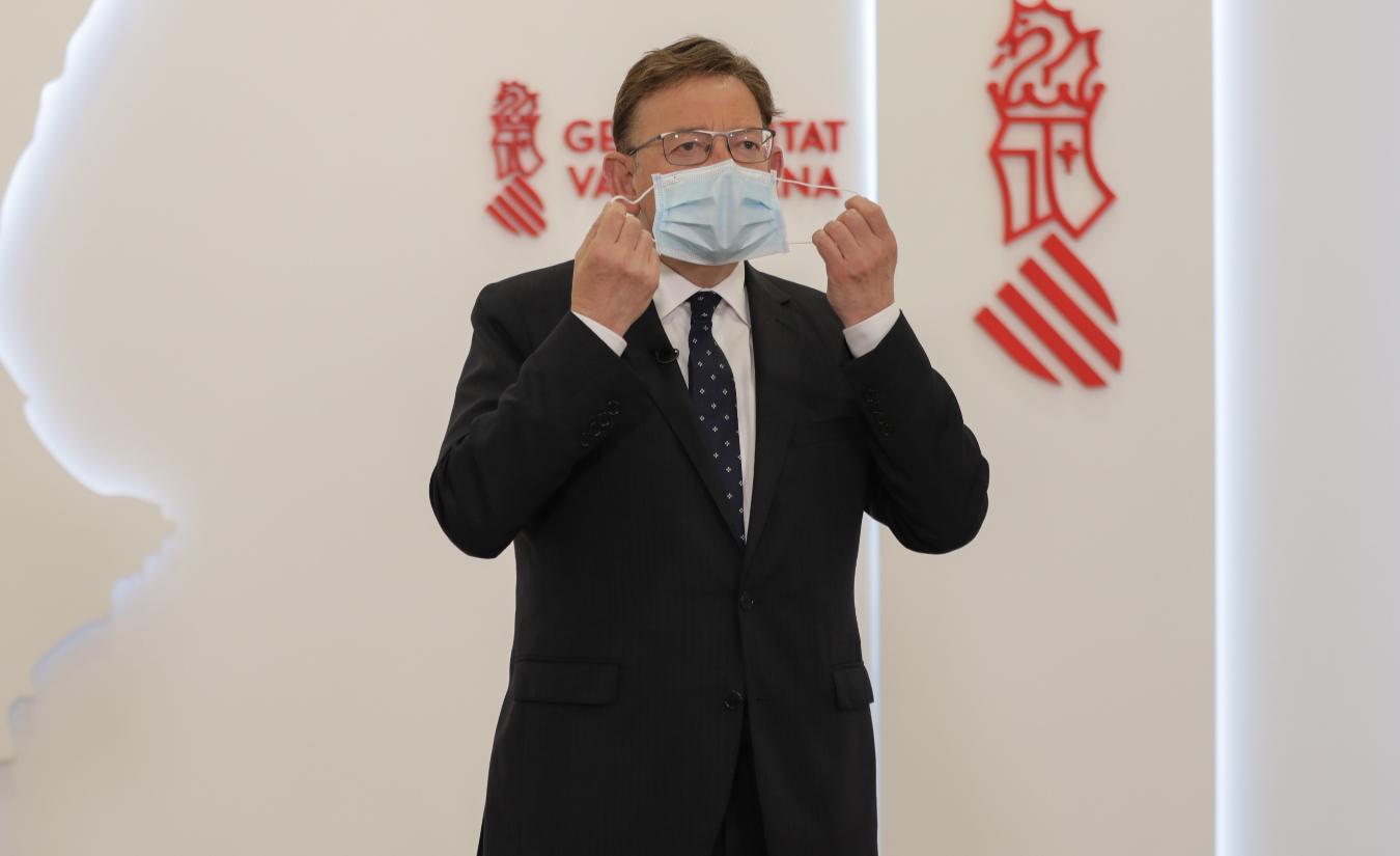 Puig insta a fer un ús responsable de la mascareta davant la fi de l'obligatorietat de portar-la en espaisexteriors