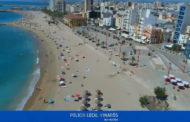 La Policia Local de Vinaròs controla amb dron el distanciament social a les platges