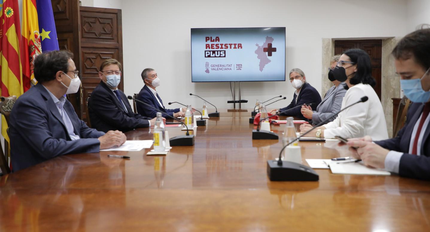 Puig anuncia una nova convocatòria del Pla Resistir Plus que s'obri a totes les empreses