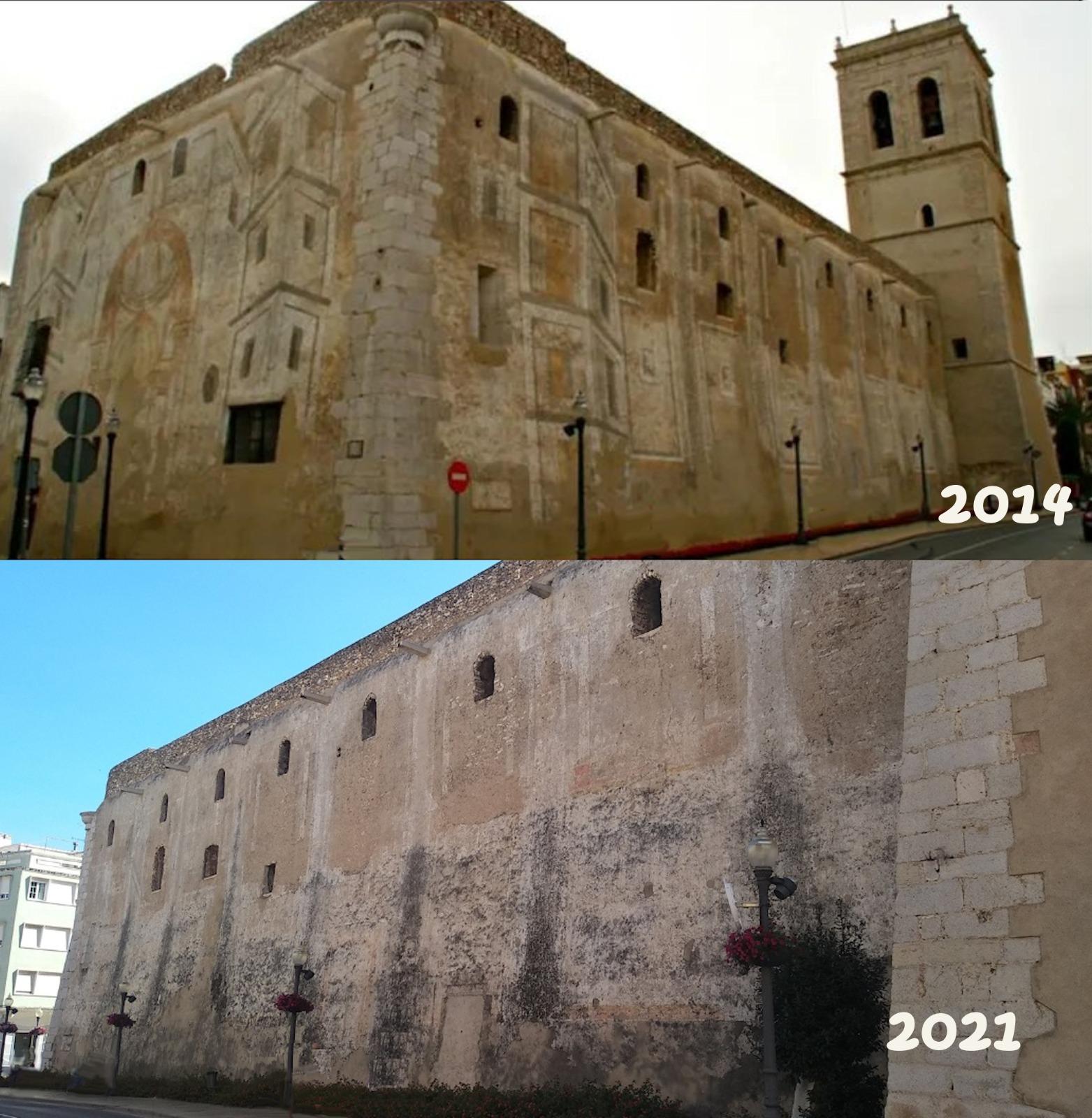 El PP exigeix una actuació immediata per salvar les pintures fingides de l'església Arxiprestal de Vinaròs