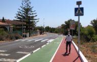 Alcalà-Alcossebre suma un nou tram de carril bici i zones per als vianants a la carretera de les Fonts