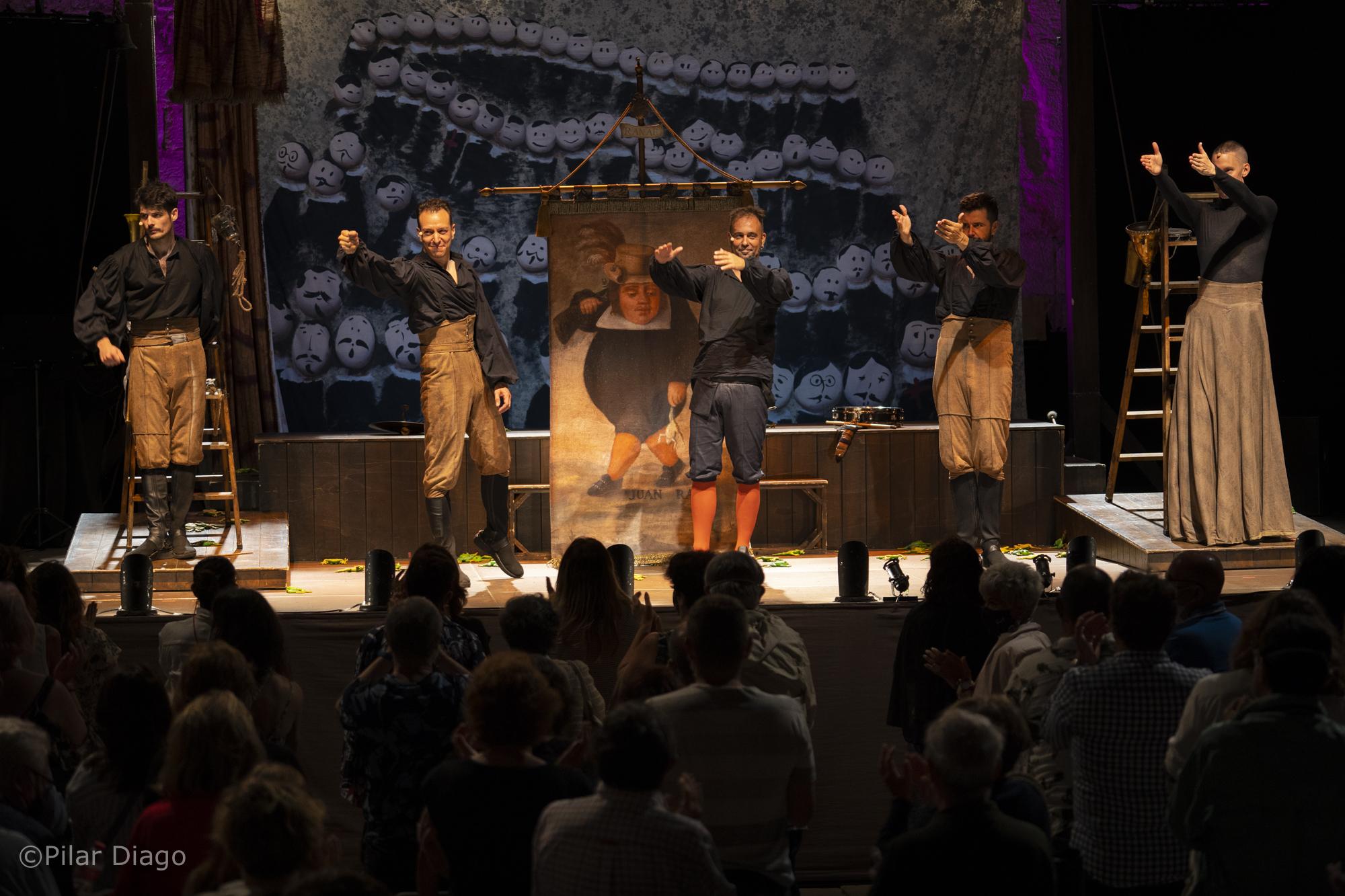 L'obra 'Andanzasy entremeses' deJuanRana, rubrica l'èxit del XXIV Festival de Teatre Clàssic de Peníscola