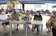 Roda de premsa de la Plataforma per la reobertura del JJ Cinema de Vinaròs 23-08-2021
