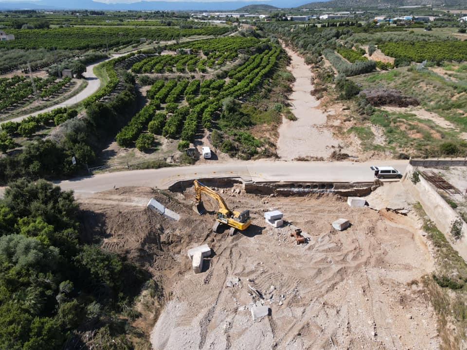 A Vinaròs continuen les obres de reparació de les destrosses provocades per les riuades