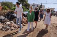 La consellera Bravo visita una de les zones afectades per les pluges torrencials a Vinaròs 08-09-2021