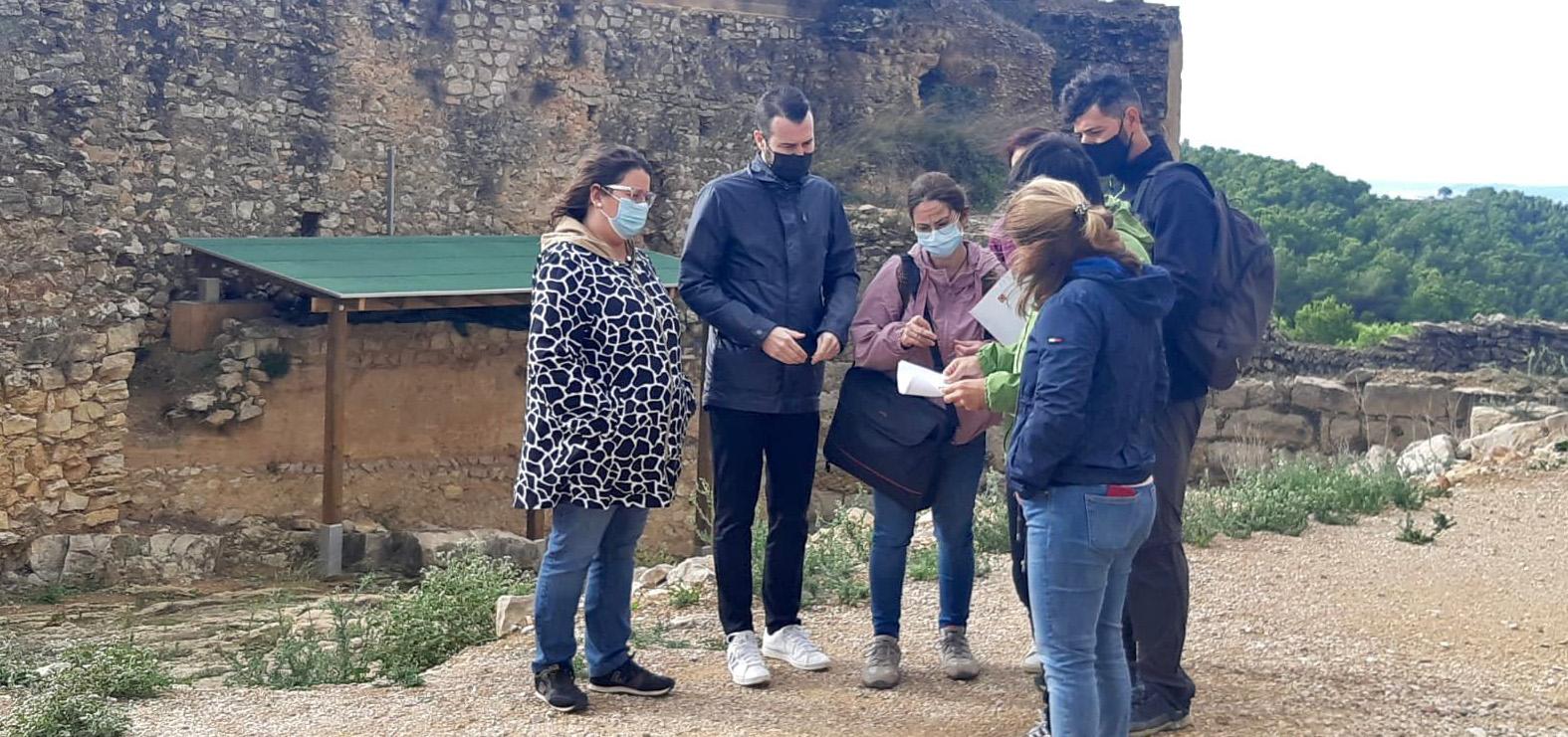 La Diputació inicia a Alcalà de Xivert els treballs de protecció de les pintures templeres del Castell