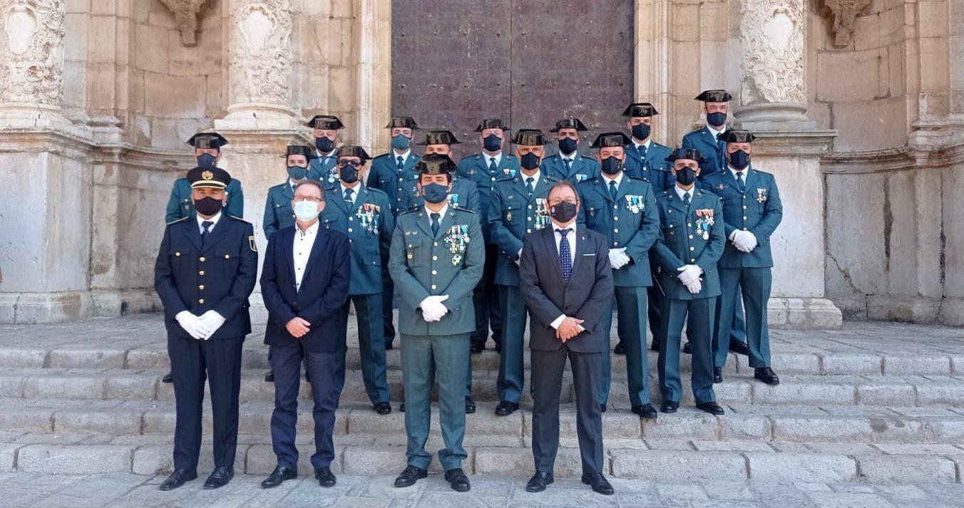 L'alcalde de Santa Magdalena participa en els actes de la patrona de la Guàrdia Civil a Alcalà de Xivert
