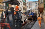 Comença a Benicarló l'asfaltat als carrers de Pere deThous, Penyagolosa i Mare de Déu de Montserrat
